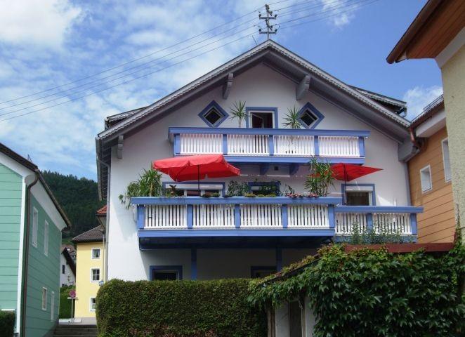 Unser Haus von der Donauseite