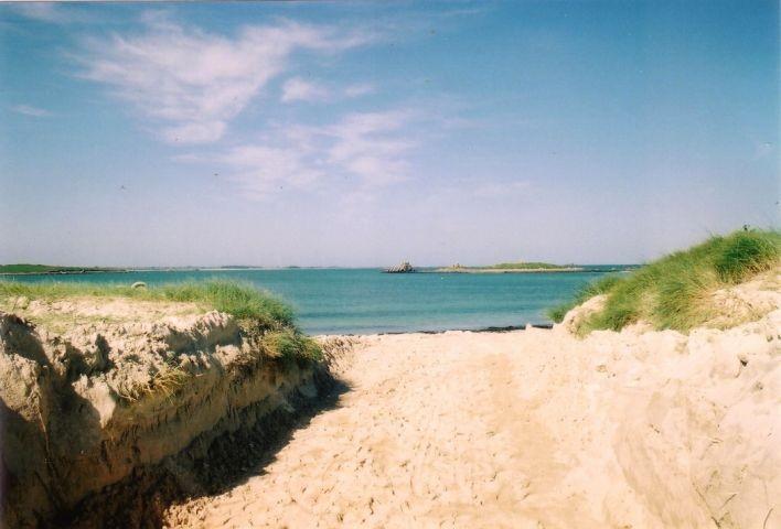 Die Einfahrt in der Sainte Marguerite Sandstrand