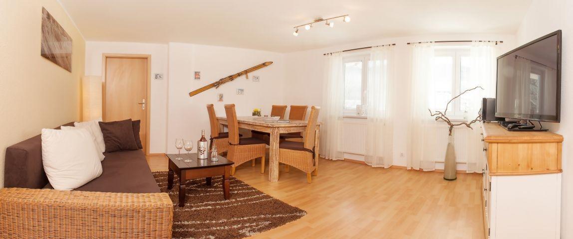 Wohnzimmer mit Flat -TV, DVD ......