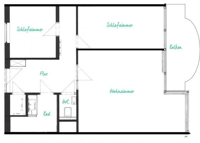 Aufteilung der Wohnräume