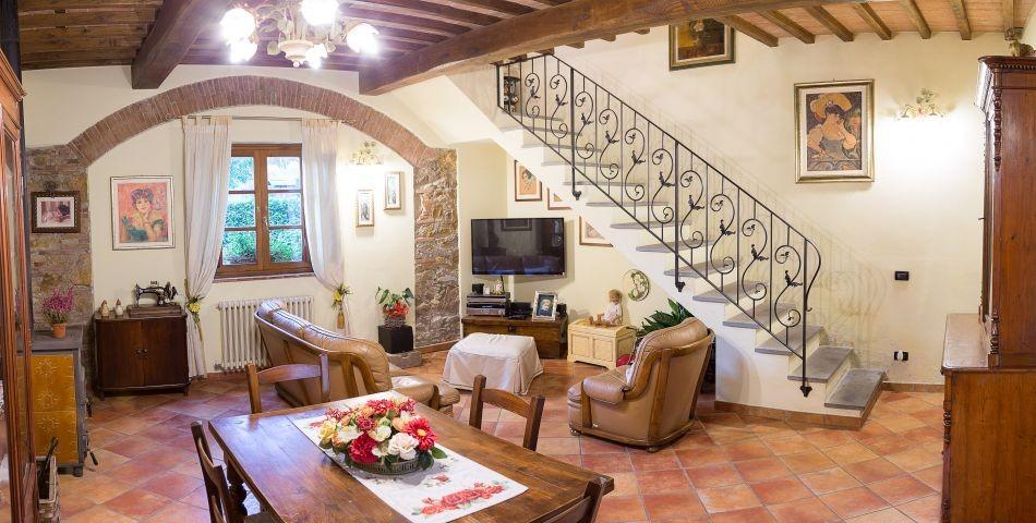Wohnraum der schönen Villa