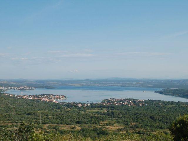 Blick auf den See beim Ferienhaus