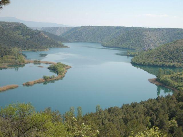 Zulauf Krka-Wasserfälle