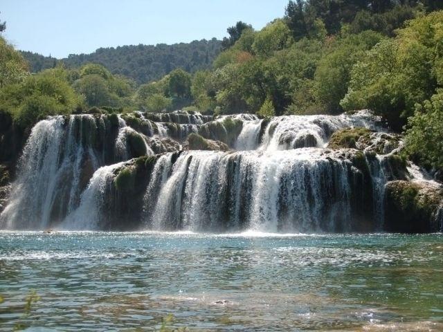 Krka-Wasserfälle bei Niedrigwasser