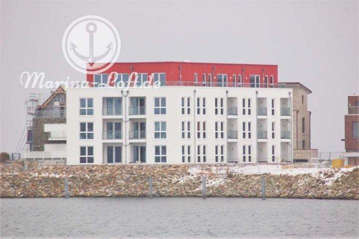 Unsere Penthaus Wohnung Oben rechts mit Dachterrasse und Meerblick
