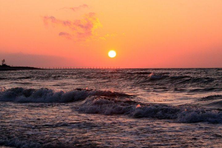 Der Sonneuntergang am Behrensdorfer Strand