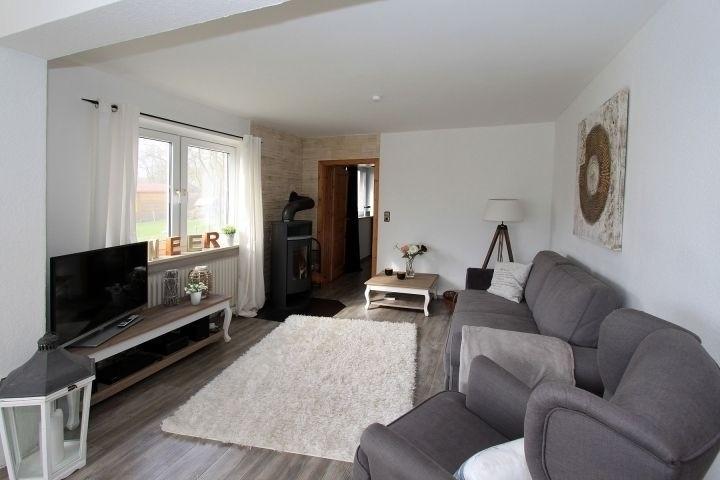 Wohnzimmer mit Kamin, SAT-TV, W-Lan, Stereoanlage