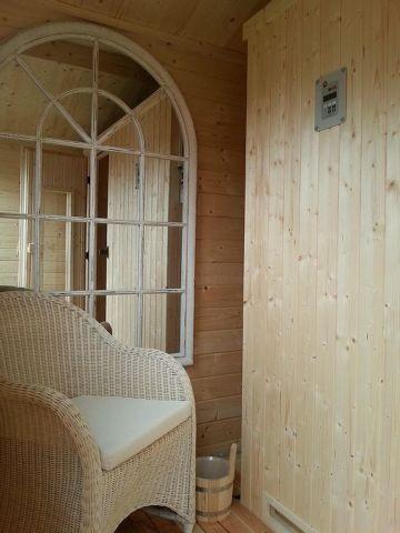 Wellness im Urlaub: Sauna mit Dampfbadfunktion