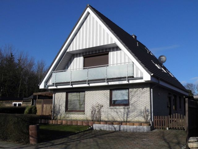Haus in der Wintersonne