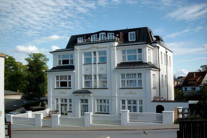 Blick auf die Villa Hamburg