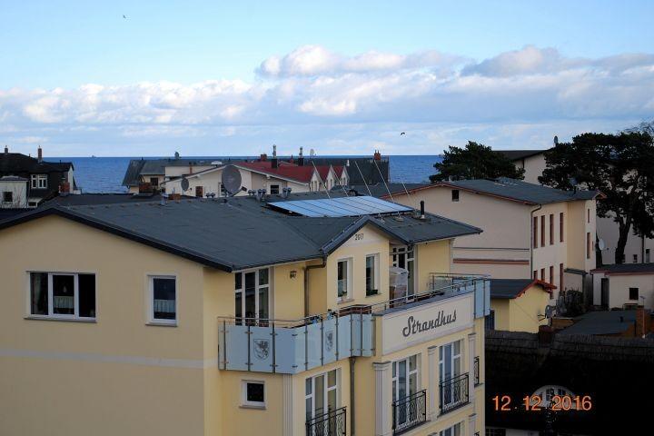 Blick von der Dachterrasse zur Ostsee