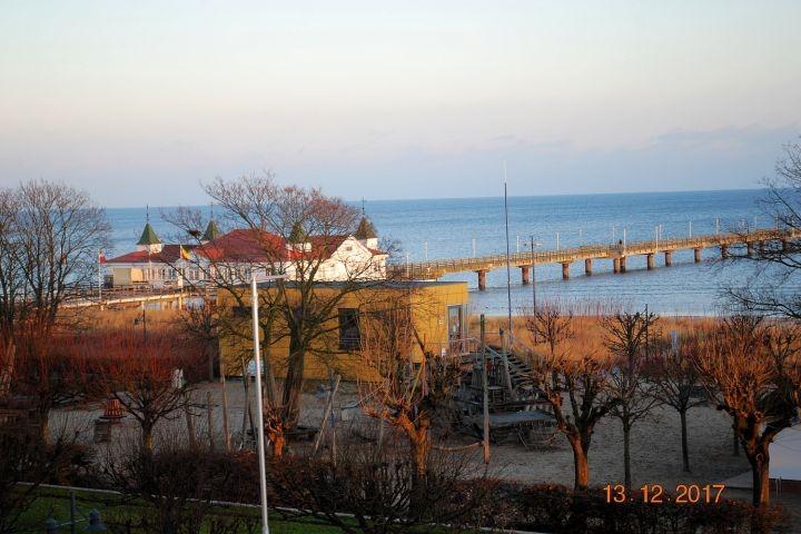 Blick von der Veranda zur Ostsee