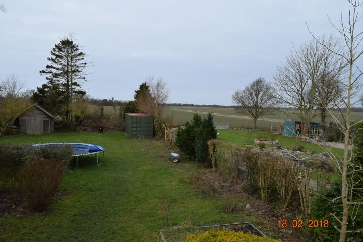 Blick von der Terrasse über den Garten