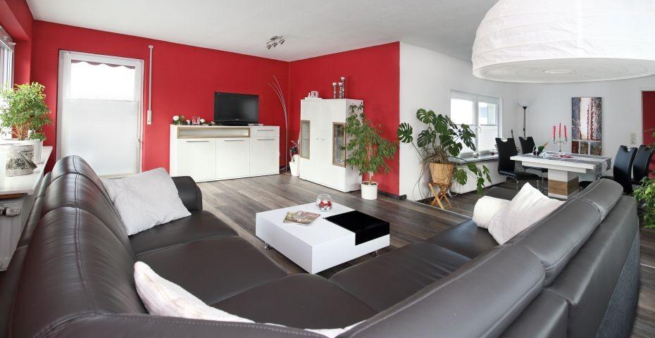 Wohnzimmer Harzblick Ferienwohnung in Seesen (Münchehof)