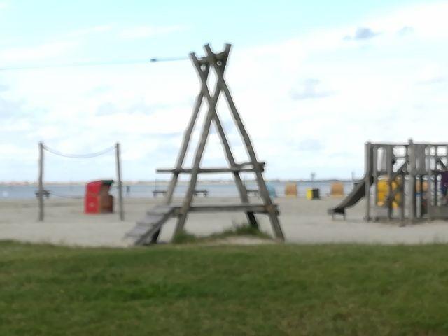 Kinderspielplatz am Strand von Neßmersiel
