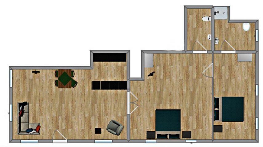 ca. 86 m²-nur Grundriss-Möbel siehe Bilder