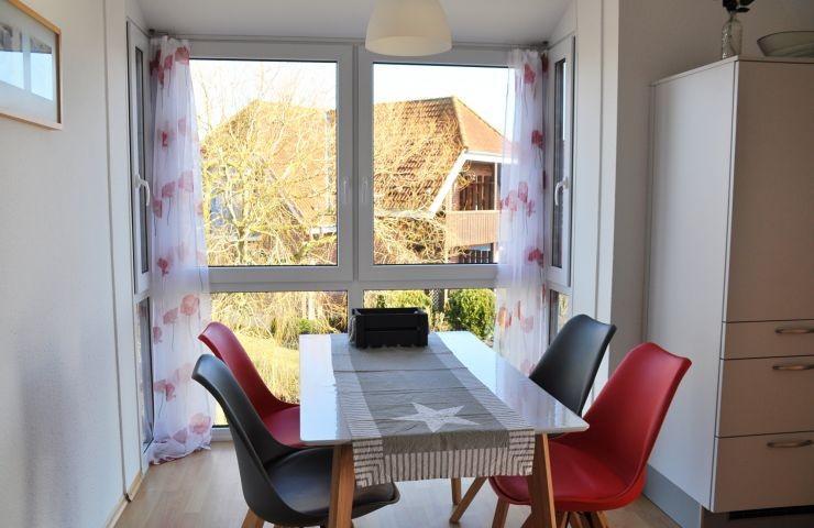Küche mit Panoramafenster