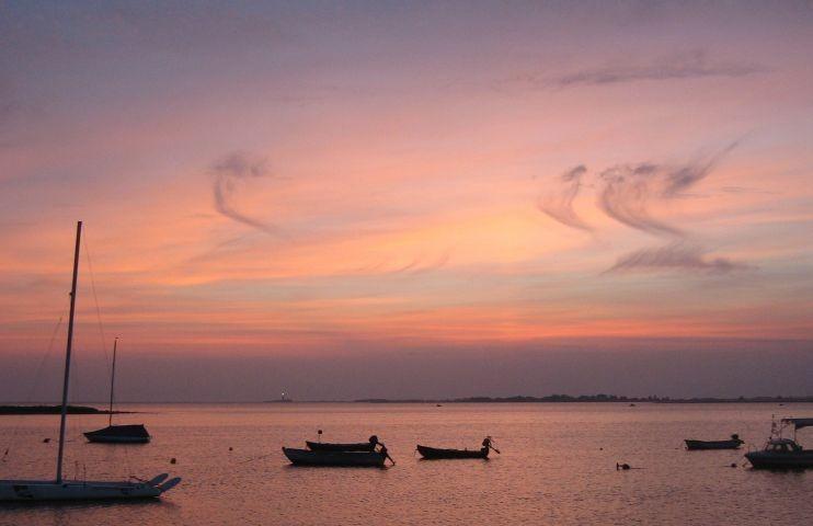 Sonnenuntergang in Lemkenhafen