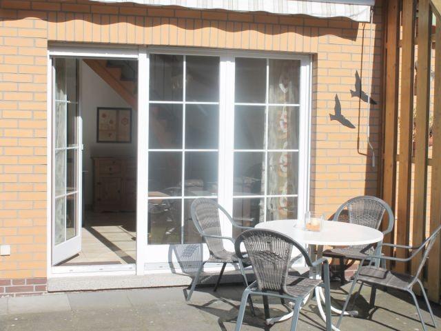 Das sonnige Plätzchen auf der Terrasse