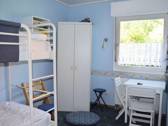 Das Kinderzimmer mit Hochbett