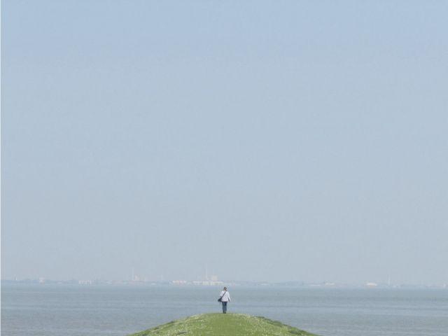 Durchatmen am Hafen, Blick Richtung Wilhelmshaven