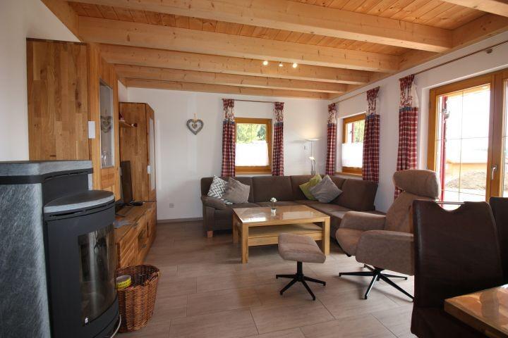 Ferienhaus Alpensee Wohnbereich