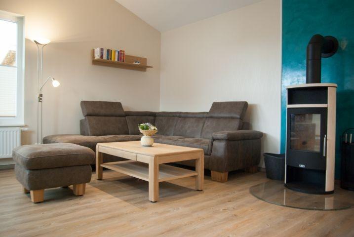 Das Wohnzimmer mit Kaminofen