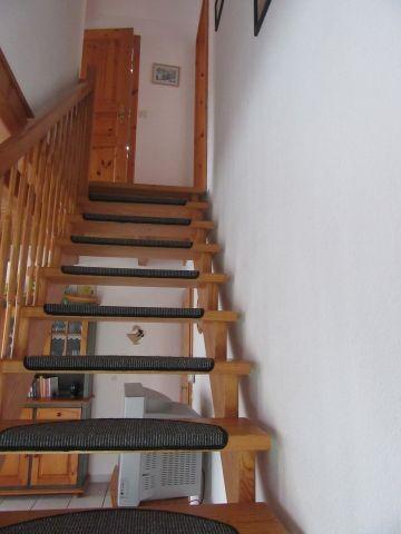 Treppe zu den oberen Schlafzimmern