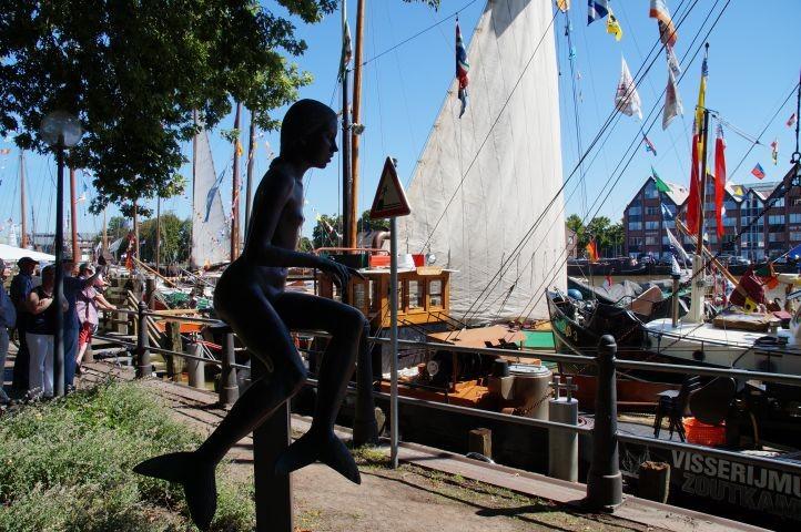 Ausglugsziel: der Hafen in Leer