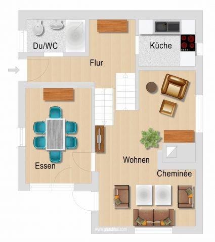 Grundriss Erd- und Mittelgeschoss