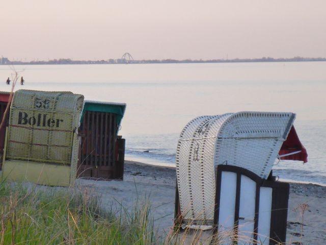 Blick vom Strand nach Fehmarn