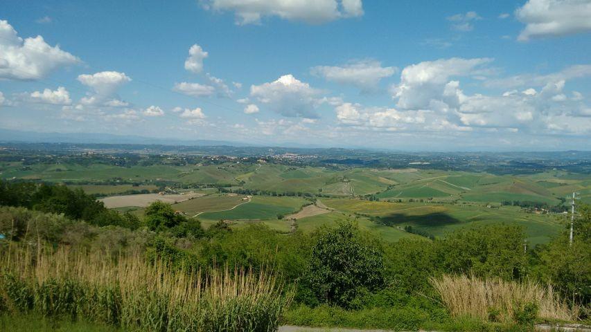 Blick von Rivalto in die Toskanischen Hügel