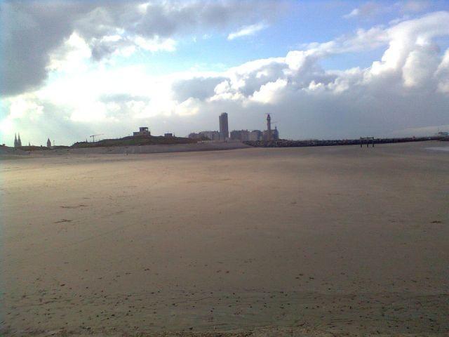 Strand Richtung  Oostende