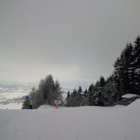 Skipiste direkt in Oberfrauenwald