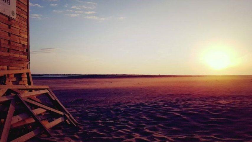 Strand morgens um 6 Uhr