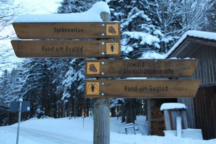 ausgewiesene Wanderwege
