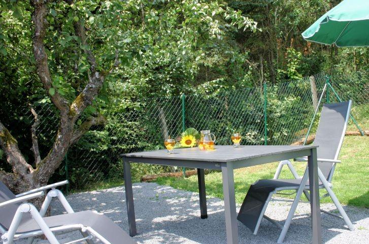 unterm Apfelbaum im Garten von Haus Elchbüsch