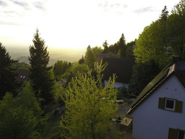 Auf 780m gelegen mit Blick ins Rheintal, auf Straßburg und die Vogesen