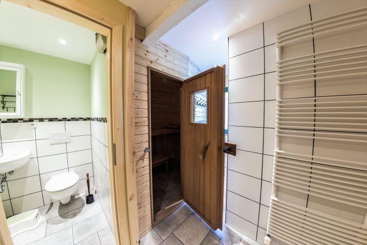 WC und Saunaeingang
