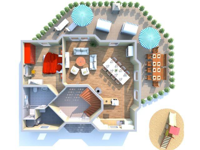 Erdgeschoss mit großer Wohnküche