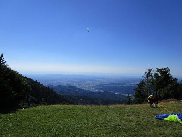Aussicht vom Berg Schau ins Land