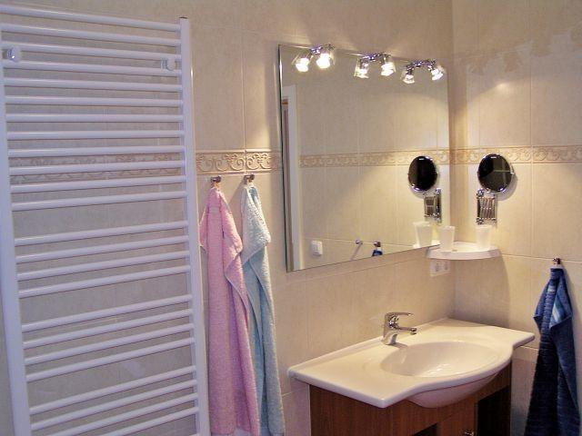 ...Handtuchheizung, Fußsprudelbad, Kosmetikspiegel und Fön