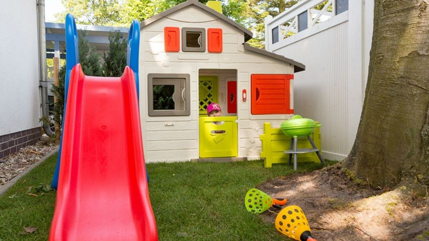 Kinderspielbereich im Garten