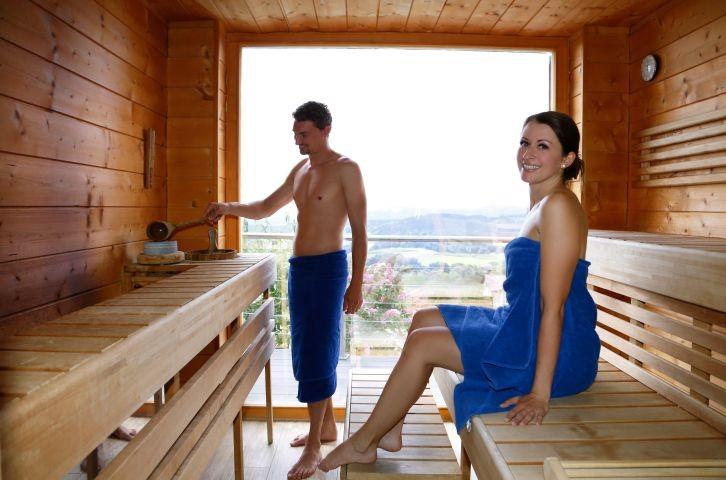 Sauna mit Ausblick in Bayern