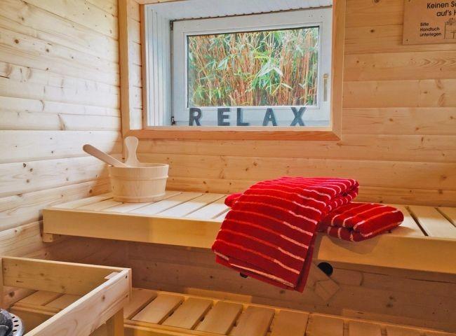 Wellnessbereich im UG mit Sauna