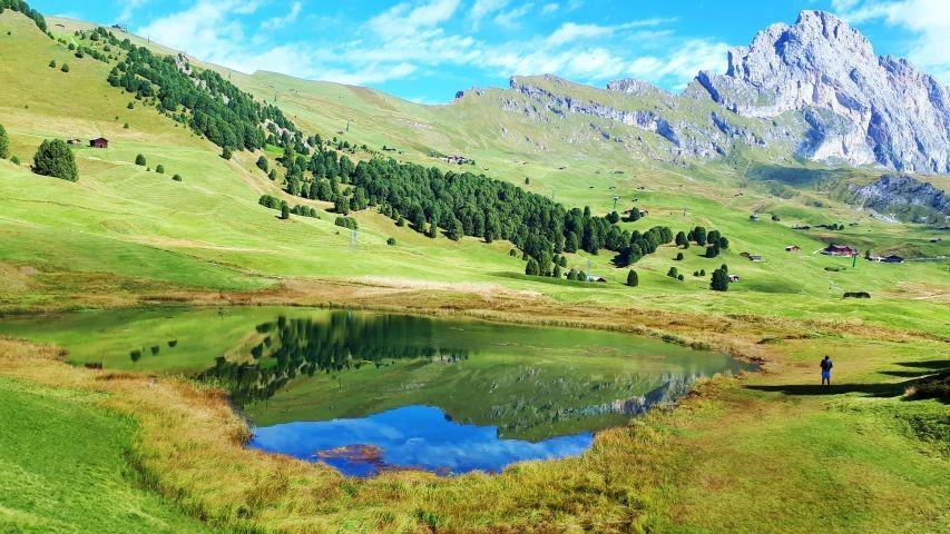 Goldener Herbst in den Dolomiten