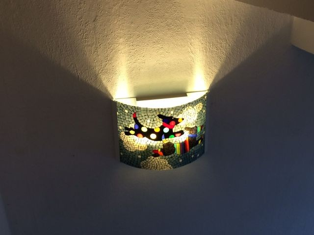 Tiffanylampe aus Künstlerwerkstatt