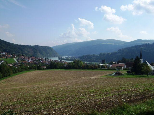 Blick auf Obernzell vom Kloster aus