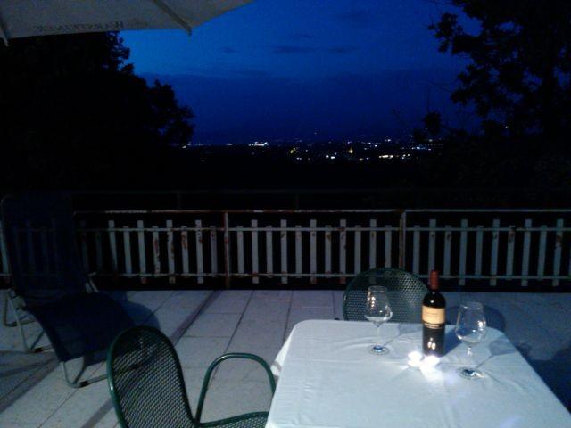 Sonnenuntergang auf der Terrasse ....