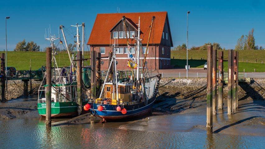 Fischerboote im Hafen Fedderwardersiel